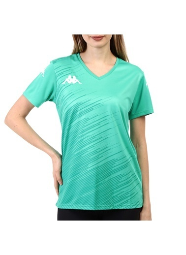 Kappa Kadın Poly T-Shirt Abuw Yeşil
